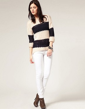 Image 4 ofRiver Island Stripe Slouchy Jumper
