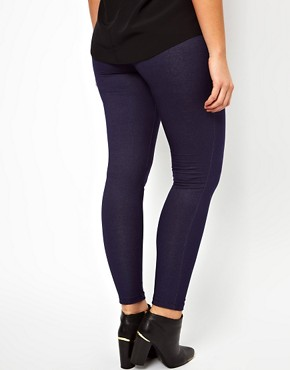 Image 2 ofASOS CURVE Exclusive Legging In Denim Look