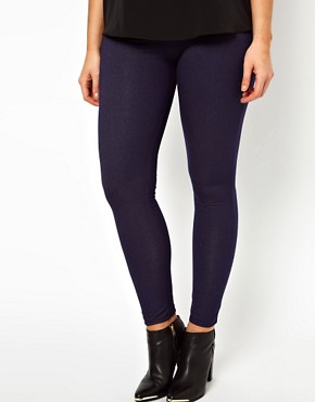 Image 4 ofASOS CURVE Exclusive Legging In Denim Look