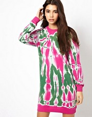 ASOS Sweat Dress In Tie Dye Print