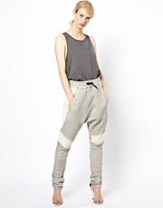 White Tent Sweatpants with Panelling Detail