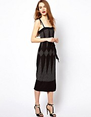 French Connection Dotty Midi Dress
