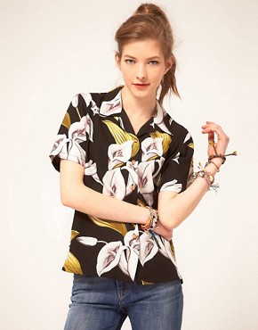 Image 1 ofParadise Found Calla Lily Hawaiian Shirt