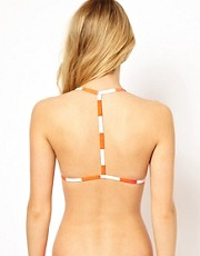 ASOS Mix and Match Stripe Moulded Triangle T Back Bikini Top