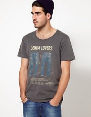 Nudie T-Shirt Denim Lovers Print