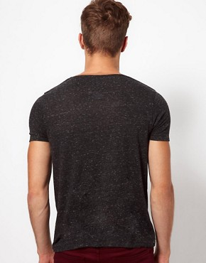 Image 2 ofASOS T-Shirt In Speckle Jersey With Contrast Pocket