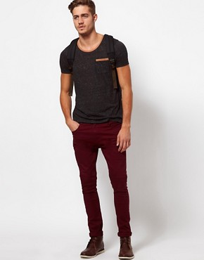 Image 4 ofASOS T-Shirt In Speckle Jersey With Contrast Pocket