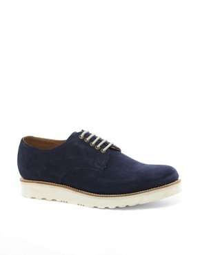 Image 1 ofGrenson Exclusive to ASOS Finbar Suede Derby Shoes