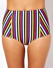 American Apparel Stripe Tricot High Waist Bikini Brief