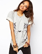 ASOS Sweatshirt with Mirror Kitten Print