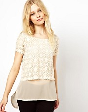 Vero Moda Lazer Cut Double Layer Top