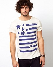 Hilfiger Denim Rudolph T-Shirt With Flag Print