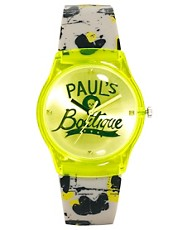 Paul's Boutique – Armbanduhr in Neongrün mit Graffitimuster