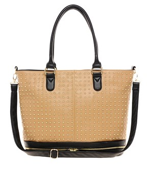 Image 1 ofASOS All Over Stud Shopper