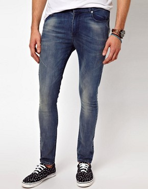 Image 1 ofASOS Super Skinny Jean With Authentic Wash