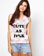 Minkpink Cute As Cara Floral T-Shirt