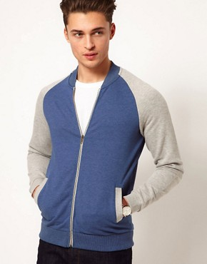 Image 1 ofASOS Bomber With Contrast Sleeves