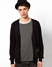Izzue Cardigan With Leather Pockets