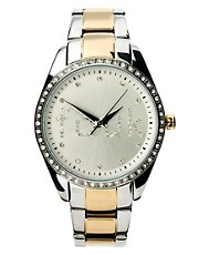 French Connection 2 Tone Bracelet Watch