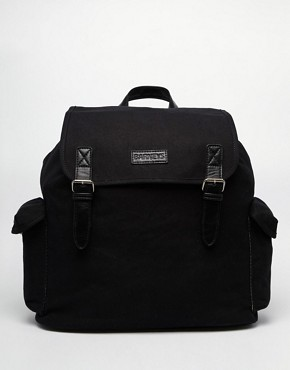 Barneys Canvas and Leather Backpack