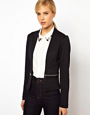 ASOS Blazer In Ponte With Zips