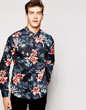 Scotch & Soda Shirt with Floral Print