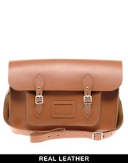 "Cambridge Satchel Company Tan Leather 15"" Satchel"