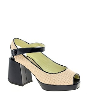 Image 1 ofPollini Block Heeled Mary Jane Sandals