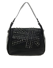 Religion Union Jack Studded Shoulder Bag