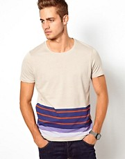 ASOS Stripe T-Shirt With Hem Print