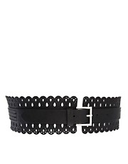 New Look Scalloped Edge Waist Belt