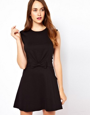 Image 1 ofTed Baker Bow Detail 60s Mini Dress