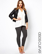 ASOS CURVE Full Length Legging In Charcoal Marl