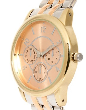 Image 3 ofASOS Mixed Metal Boyfriend Watch