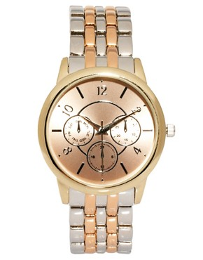 Image 1 ofASOS Mixed Metal Boyfriend Watch