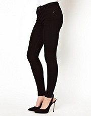 A Wear Erin Skinny Jean In Black Denim
