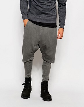 ASOS Meggings With Drop Crotch Short In Grey