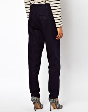 Image 2 ofASOS Relaxed Trouser In Indigo Tweed Denim