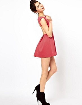Image 4 of Oh My Love Skater Dress with Open Back