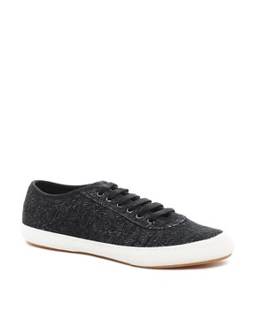 Image 1 ofFred Perry Woodford Jersey Plimsolls
