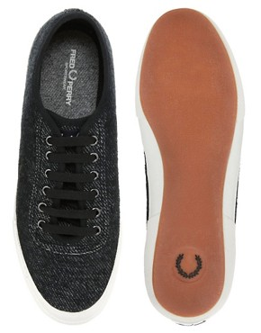 Image 3 ofFred Perry Woodford Jersey Plimsolls