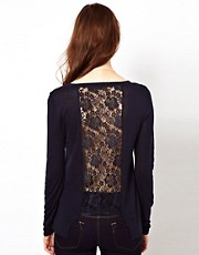 Warehouse Lace Raglan Insert Jumper