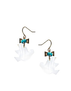 Image 1 ofJamie Jewellery Bird Earrings with Turquoise Stone