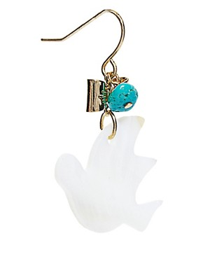 Image 3 ofJamie Jewellery Bird Earrings with Turquoise Stone
