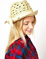 Sombrero borsalino de paja de ASOS