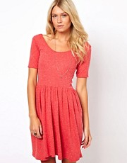 ASOS Skater Dress In Nepi With Scoop Back
