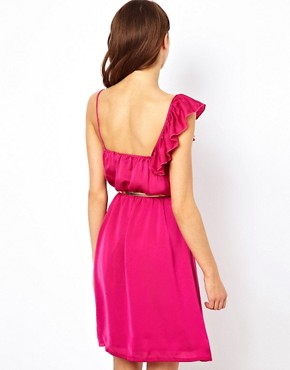 Image 2 ofJarlo Ruffle Wrap Detail Dress With Belt