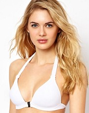 Calvin Klein Moulded Halter Bikini Top With Hardware