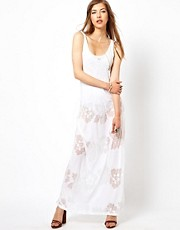 Denim & Supply By Ralph Lauren Floral Burnout Maxi Dress