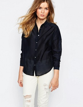 Maison Scotch Tassel Shirt in Black